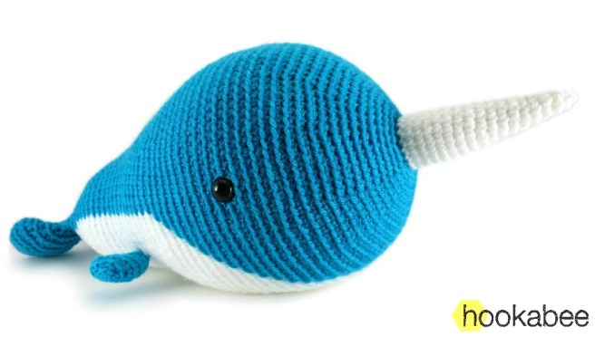 Walden the Narwhal amigurumi crochet pattern by @hookabee crochet (www.hookabee.com) #crochet #amigurumi #narwhal #whale #pattern