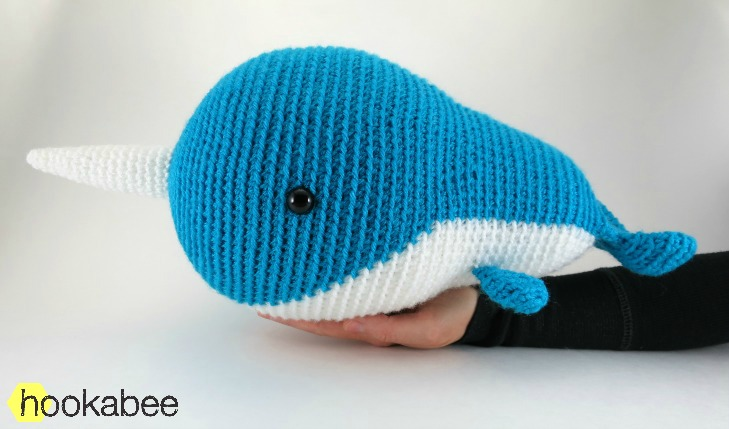 Walden the Narwhal (or Whale!) amigurumi pattern hookabee