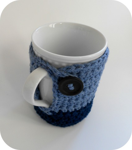 Crocheted mug cozy by Crochet N Play
