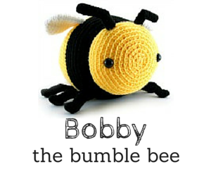 Bobby the bumble bee crochet amigurumi pattern by @hookabee