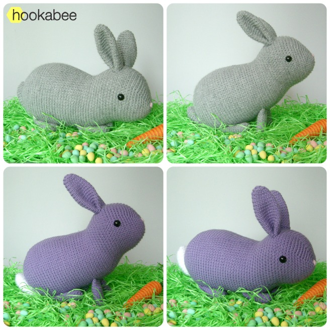 Flora the bunny rabbit crochet amigurumi stuffed animal by @hookabee crochet