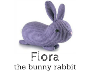 Flora the bunny rabbit crochet amigurumi pattern by @hookabee