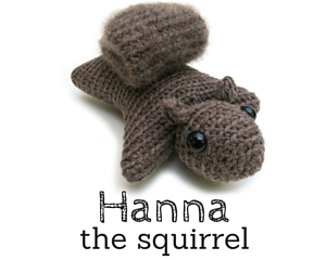 Hanna the Squirrel amigurumi pattern by hookabee