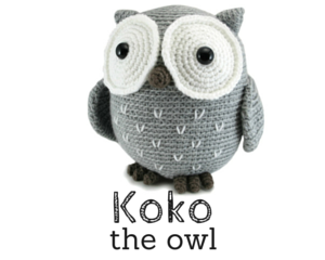 Koko the Owl crochet amigurumi pattern by @hookabee