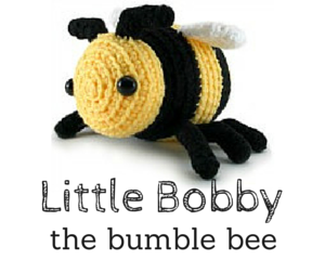 Little Bobby the bumble bee crochet amigurumi pattern by @hookabee