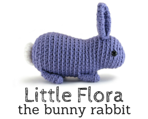 Little Flora the bunny rabbit crochet amigurumi pattern by @hookabee