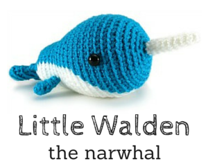 Little Walden the narwhal crochet amigurumi pattern by @hookabee