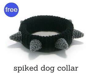 Spiked dog collar crochet pattern by @hookabee