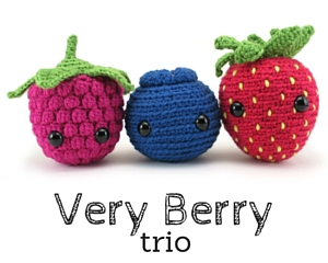 Berry amigurumi patterns by @hookabee
