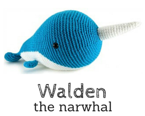 Walden the narwhal crochet amigurumi pattern by @hookabee