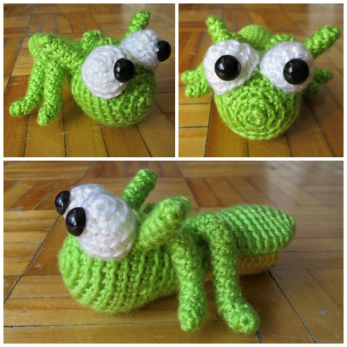Grasshopper crochet amigurumi by Amination