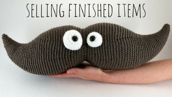 selling finished crochet items and amigurumi blog post title