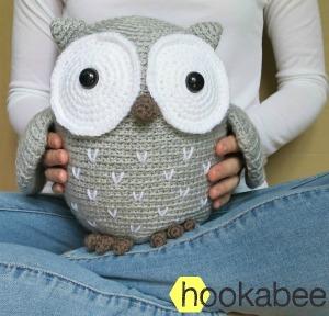 Koko the Owl amigurumi crochet pattern by @hookabee crochet (www.hookabee.com) #crochet #amigurumi #owl #pattern
