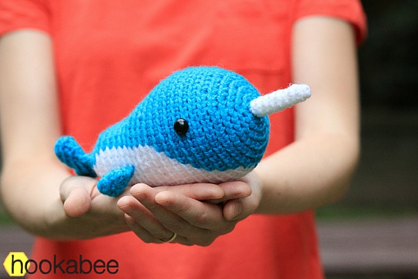Little Walden the Narwhal amigurumi crochet pattern by @hookabee