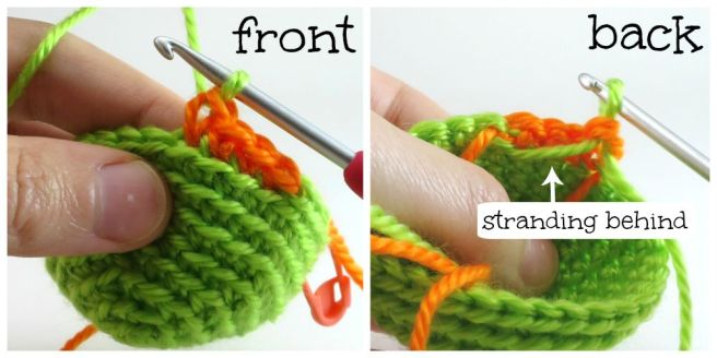 Colour change in amigurumi photo tutorial by @hookabee