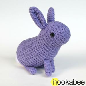 Little Flora the bunny rabbit crochet amigurumi stuffed animal pattern by @hookabee crochet (www.hookabee.com) #amigurumi #crochet #pattern #easter #bunny #rabbit