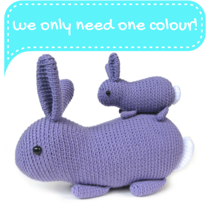Flora the bunny rabbit amigurumi pattern