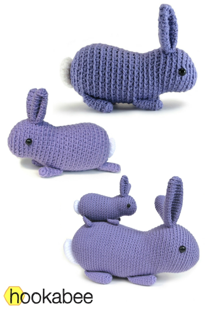 Little Flora the bunny rabbit amigurumi crochet pattern by @hookabee