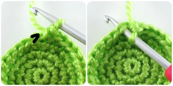 Crocheting through both loops in amigurumi