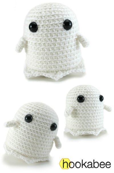 Grimm the ghost free amigurumi pattern by @hookabee