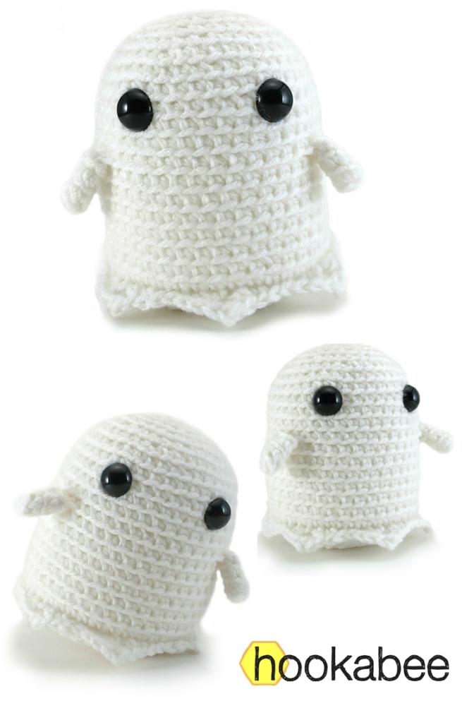 Grimm the ghost free amigurumi pattern by @hookabee