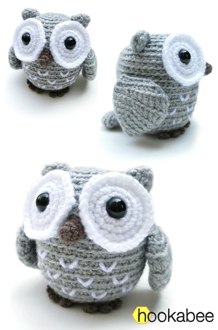 Little Koko the owl amigurumi pattern hookabee