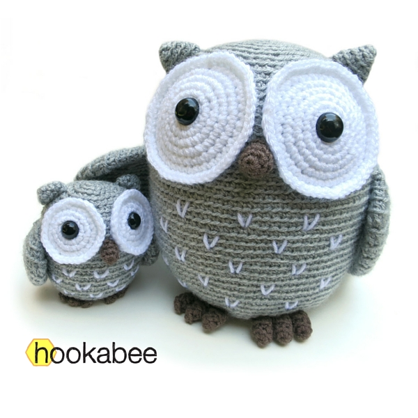Big and Little Koko the Owl amigurumi patterns by @hookabee