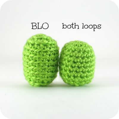 both loops vs. BLO stitch height in amigurumi