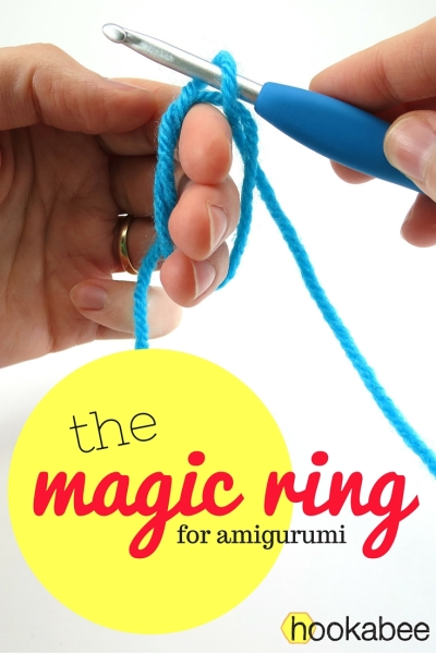 Starting amigurumi with the magic ring (or magic circle) by @hookabee