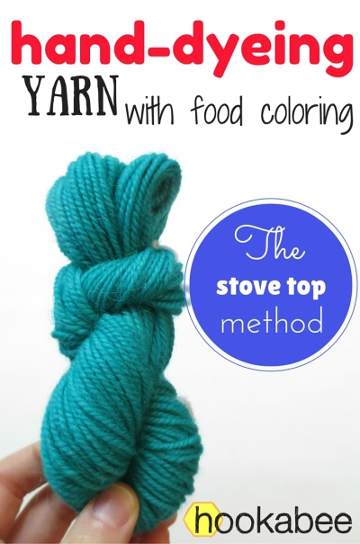 hand dyeing yarn with food coloring on the stove top by hookabee