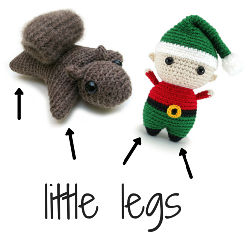 Stuffing little legs in amigurumi