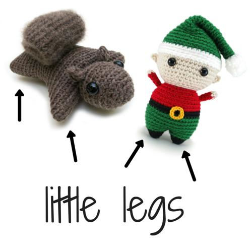 Stuffing little legs in amigurumi