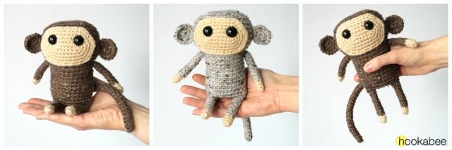 Naughty monkey amigurumi pattern - Amigurumi Today | 213x640