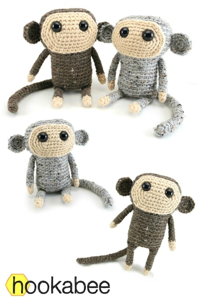 Cheeky little monkey - Free amigurumi pattern | 988x656