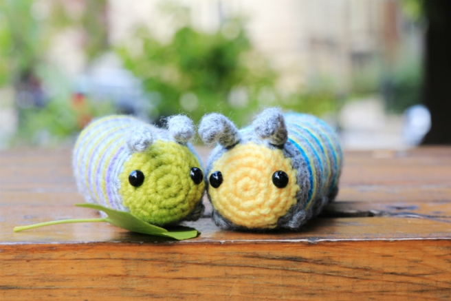 Spring Caterpillar amigurumi pattern by @hookabee