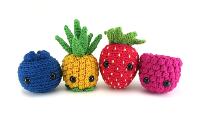 Fruit amigurumi pattern by @hookabee