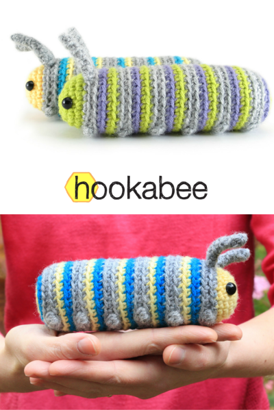 Chip the Caterpillar amigurumi pattern by @hookabee