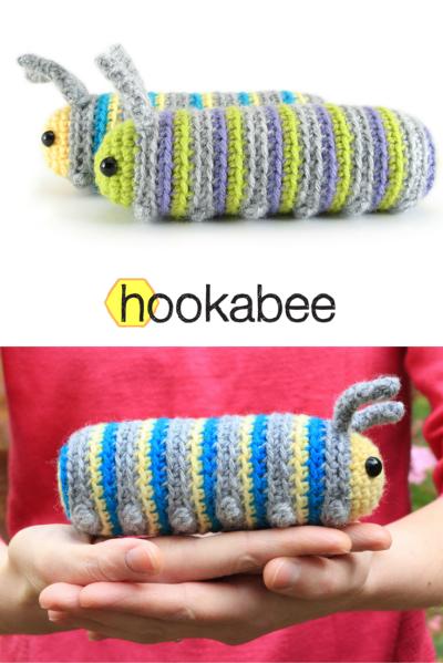 Chip the Caterpillar amigurumi pattern by @hookabee