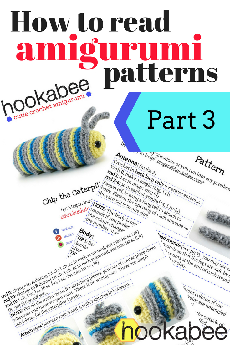 How to read amigurumi patterns part 3 hookabee pooptronica