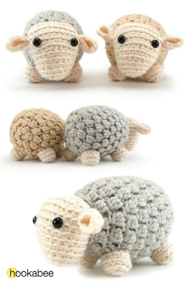 Andy the Sheep amigurumi crochet pattern by @hookabee
