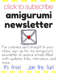 Subscribe to my amigurumi newsletter!