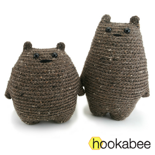 Tod and Dot the bears amigurumi pattern by hookabee