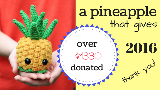 2016 Bill the Pineapple amigurumi donation